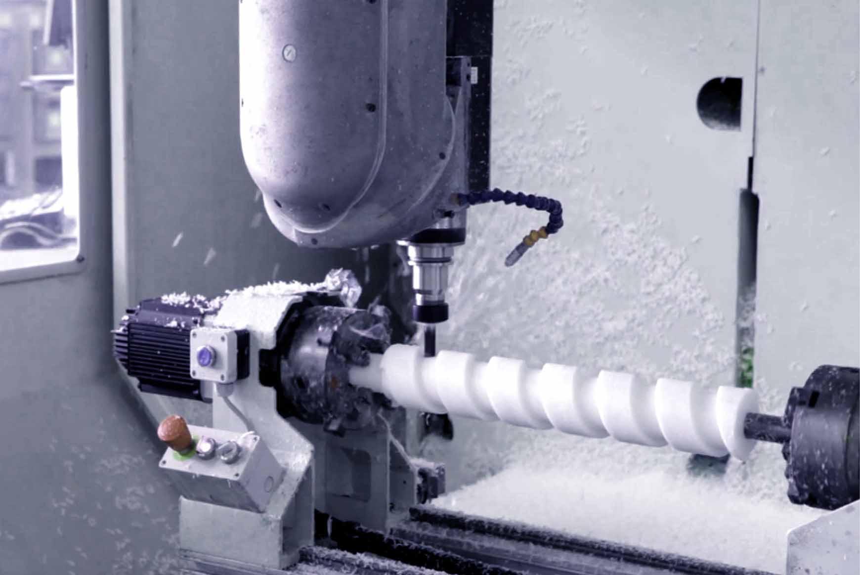 Lavorazione coclea nylon teflon Plastics seals